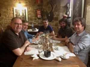Con Évole, Fernando Vázquez e Losada